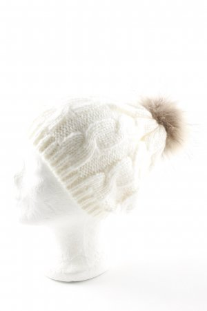 Knitted Hat natural white-light brown casual look