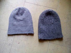 Chapeau en tricot gris foncé-gris