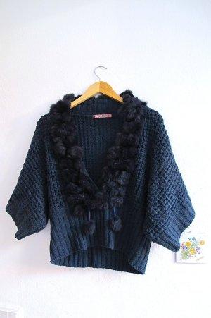 Knitted Jumper dark blue pelt
