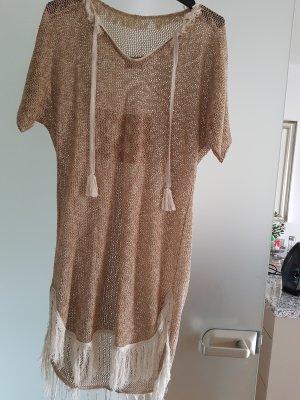 Robe en maille tricotées beige clair