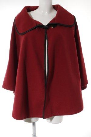 Poncho in maglia rosso scuro stile romantico