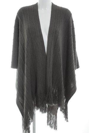 Poncho in maglia grigio stile casual