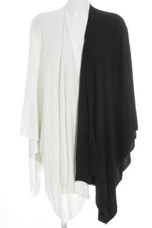 Strickponcho schwarz-weiß Casual-Look