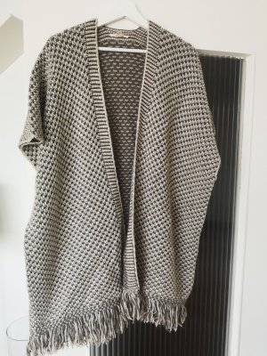 Esprit Knitted Poncho grey brown-oatmeal