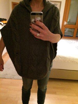 Basefield Poncho in maglia antracite-grigio scuro