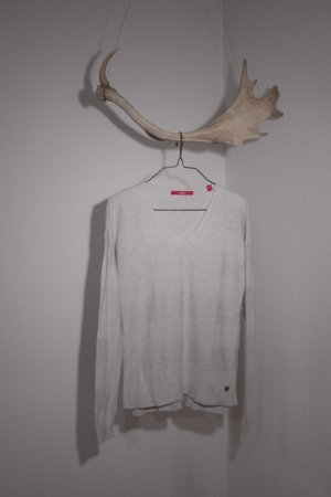 s.Oliver V-Neck Sweater oatmeal