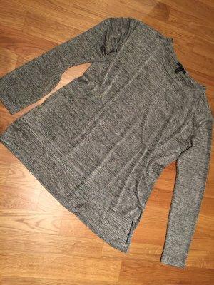 Strickpulli grau Glanz, mit Schlitz am Rücken, XL