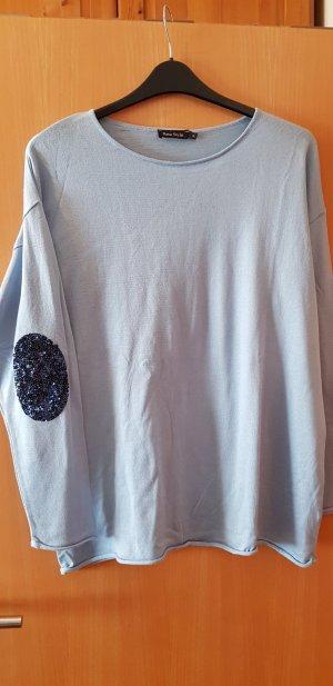 Gebreid shirt lichtblauw