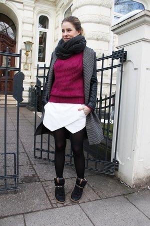 Strickpulli in magenta von Zara
