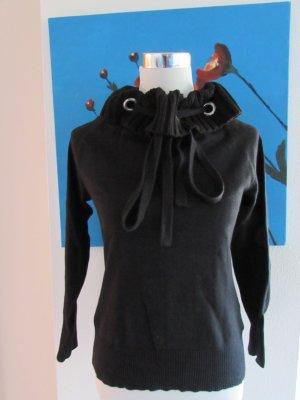 b.p.c. Bonprix Collection Pull tricoté noir laine