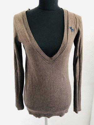 Abercrombie & Fitch Maglione lavorato a maglia marrone chiaro