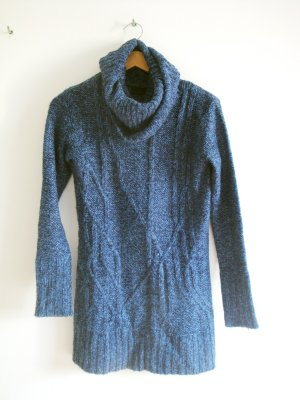 Vero Moda Cable Sweater dark blue-steel blue polyacrylic