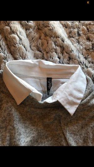 Laura Torelli Sweatshirt zilver-wit