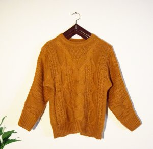 Strickpulli Orange