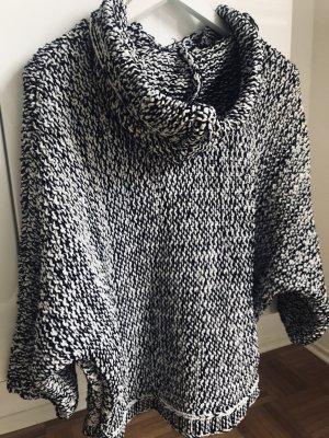 Zara Grof gebreide trui wit-zwart