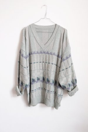 strickpulli pastell mint pastell graphisches muster norweger unisex oversize
