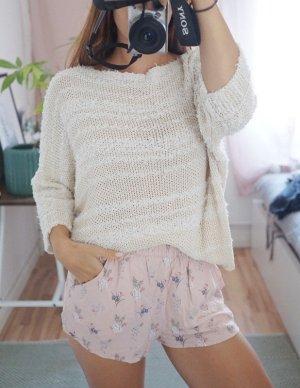 Strickpulli Pullover beige creme oversized S/M