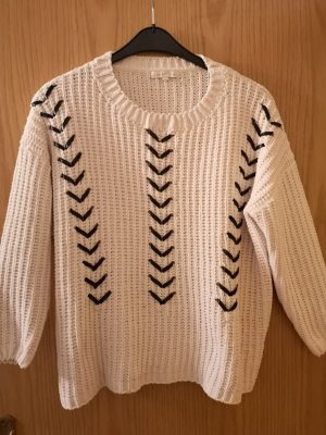strickpulli pullover weiss creme used destroyed blogger