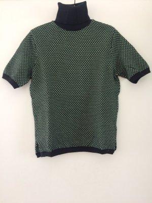 Zara Knit Short Sleeve Sweater multicolored cotton