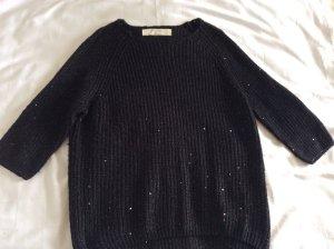 Zara Fine Knitted Cardigan black cotton