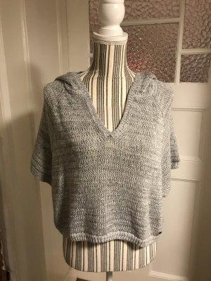Abercrombie & Fitch Short Sleeve Sweater light grey-grey