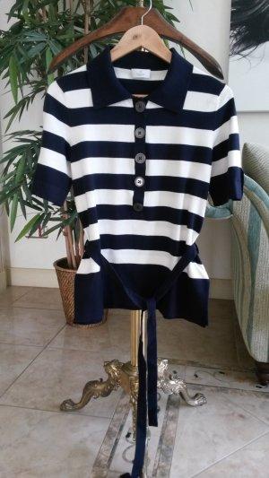 ae elegance Knitted Sweater white-dark blue