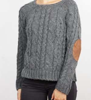 Zara Cable Sweater grey-brown