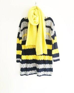 strickpulli / wollpullover / vintage / blau / grau / gelb / getreift / winterpulli / granny