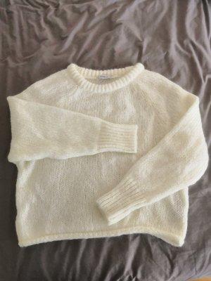 Zara Maglione lavorato a maglia bianco