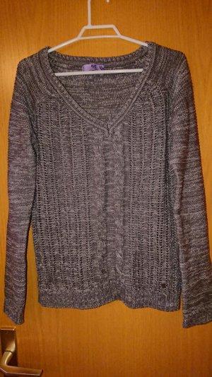 AJC Jersey con cuello de pico gris oscuro