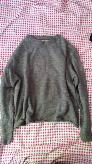 Pull & Bear Jersey de punto gris