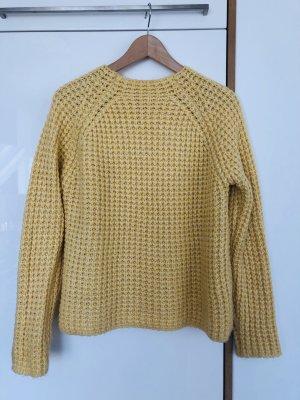Mango Pull tricoté jaune clair-jaune primevère