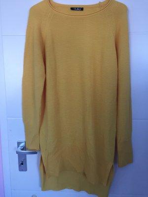 Cardigan en maille fine jaune