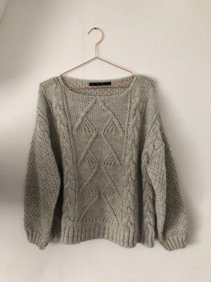 Zara Jersey de punto gris claro Lana