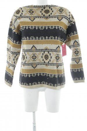 Strickpullover abstraktes Muster Casual-Look