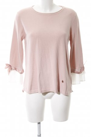 Knitted Sweater dusky pink-white casual look