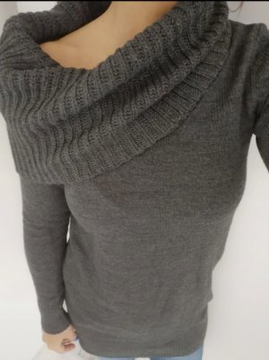 H&M Long Cardigan dark grey-anthracite polyacrylic