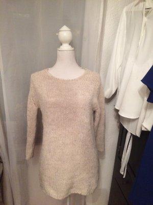 Zara Pull tricoté beige clair