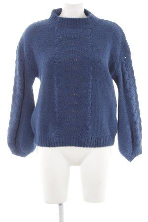 Strickpullover blau Casual-Look