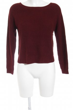 Strickpullover bordeauxrot Casual-Look