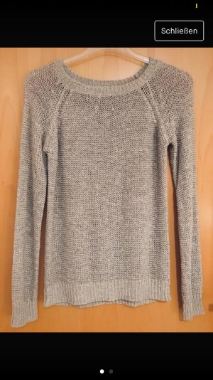 Rock angel Coarse Knitted Sweater grey brown