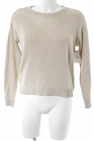 Strickpullover creme-beige Casual-Look
