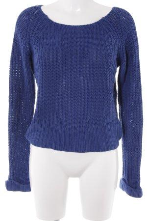 Strickpullover dunkelblau Casual-Look