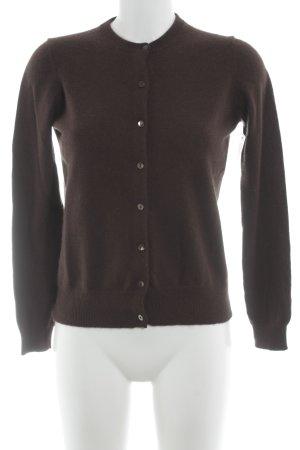 Pull tricoté brun foncé style décontracté