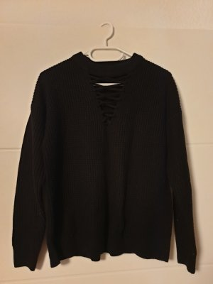 New Look Knitted Jumper black
