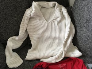 Blue Motion Knitted Sweater white-natural white