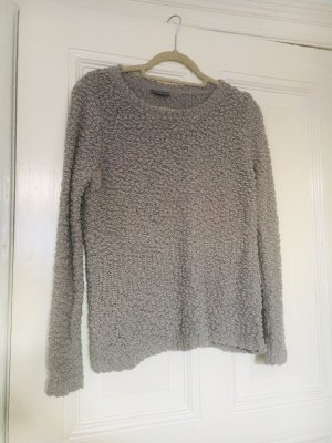 Street One Coarse Knitted Sweater silver-colored-grey