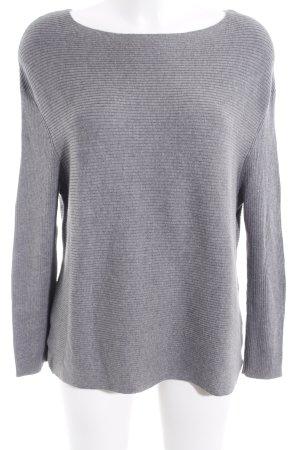 Strickpullover grau schlichter Stil
