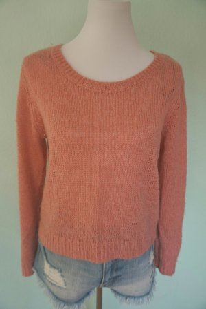 H&M Long Sweater pink-light pink polyester
