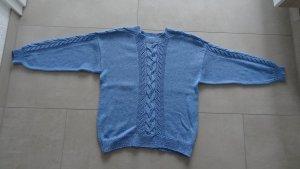 Strickpullover *Handarbeit* Gr. 44/46 hellblau